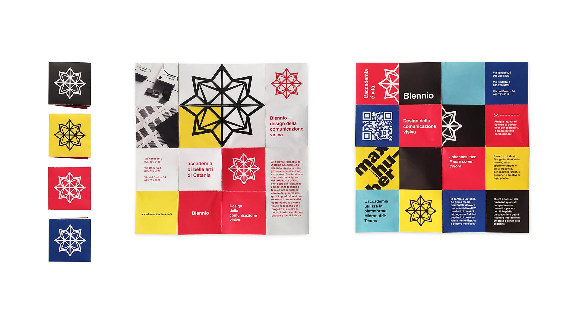 Flyer realizzati durante il corso di Packaging per l'editoria
