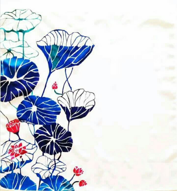 Lorena Ferrara, Dillo con i fiori, colori per stoffa su seta