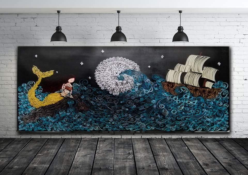 Noemi Talluto, la Sirena, Tecnica mista, Ambientazione